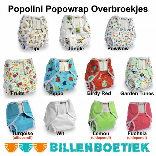 Popolini Popowrap overbroekjes voor over wasbare luiers van de Billenboetiek