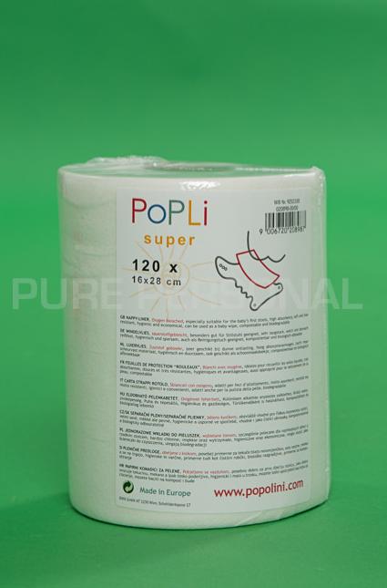 alt tekst Popli inlegvellen van Popolini, 120 vellen van 16 bij 28 cm