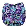 Blueberry Capri Billenboet overbroekje voor over de wasbare luier Butterfly Garden