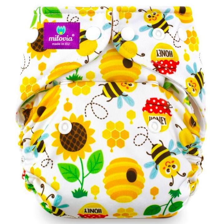 Milovia wasbare Pocket luier van de Billenboetiek in Utrecht Sweet Bee
