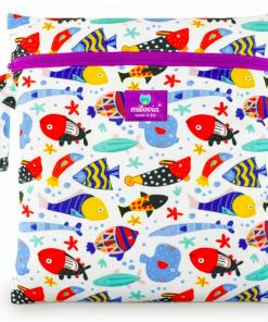 Milovia wetbag voor wasbare luiers van de Billenboetiek fish team