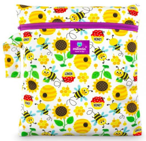 Milovia wetbag voor wasbare luiers van de Billenboetiek sweet bee