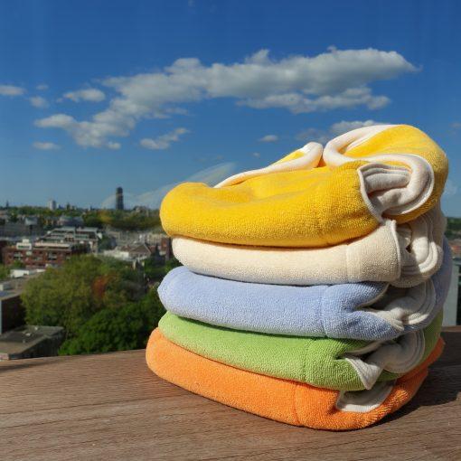 Wasbare luiers Popolini Organic Soft kleurenset Billenboetiek Utrecht