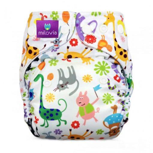 milovia diaper happy animals zonder logo