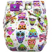 milovia wasbare luier billenboetiek lovely owls coolmax