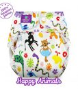 Wasbare luier billenboetiek milovia cover Happy Animals