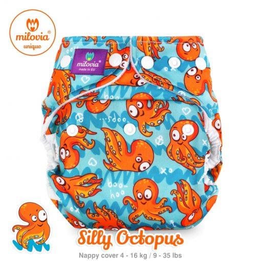 Wasbare luier billenboetiek milovia cover Silly Octopus