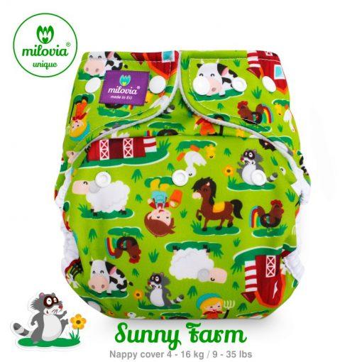 Wasbare luier billenboetiek milovia cover Sunny Farm