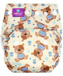 milovia wasbare luier billenboetiek Cute Teddy