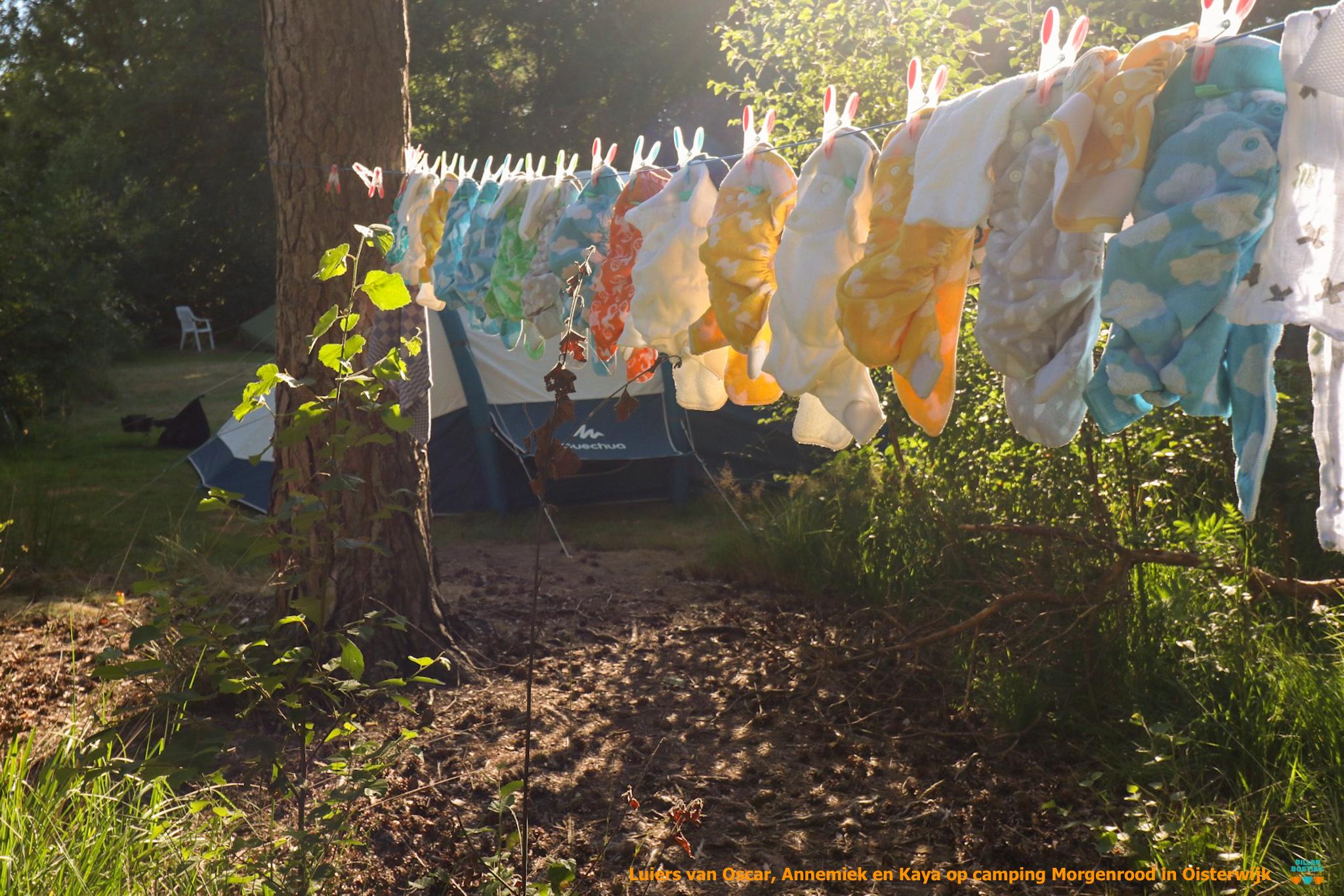 wasbare luiers op vakantie Camping Morgenrood in Oisterwijk Billenboetiek Oscar Farg