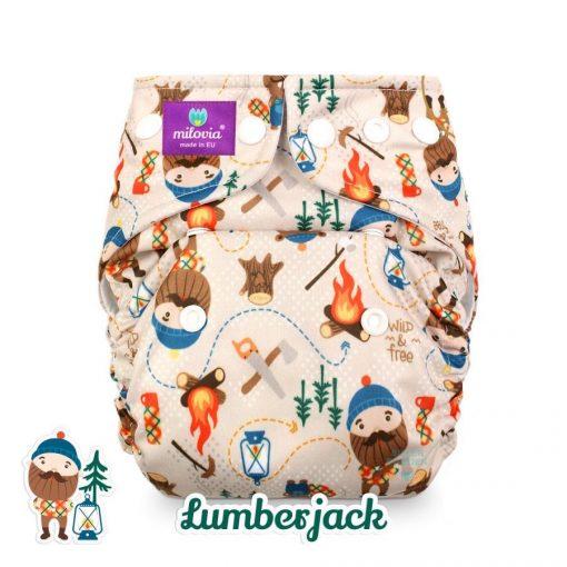 milovia wasbare luiers billenboetiek cloth diapers coolmax Lumberjack