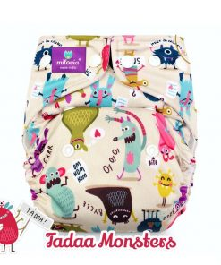 milovia wasbare luiers billenboetiek cloth diapers coolmax Tadaa Monsters