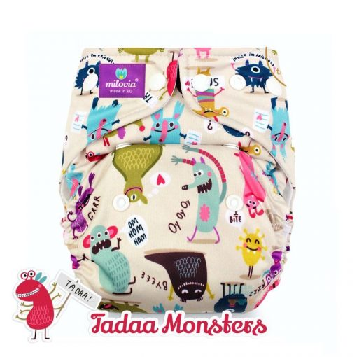 milovia wasbare luiers billenboetiek cloth diapers coolmax Tadaa Monsters