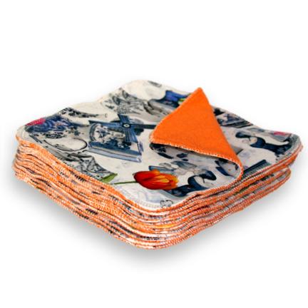 Wasbare billendoekjes billenboetiek dutchy orange open