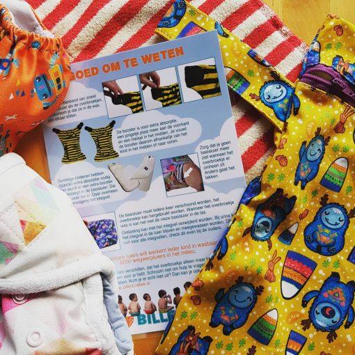 achterkant Wasbare luiers instructie voor kinderdagverblijven Billenboetiek