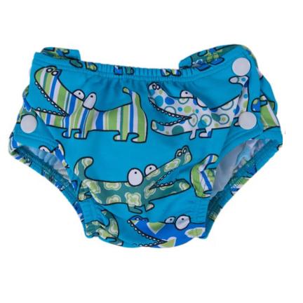 Popolini Billenboetiek wasbare zwemluier Croco Blue