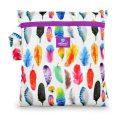 milovia wetbag voor wasbare luiers van de Billenboetiek Gorgeous Feathers