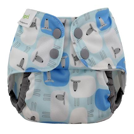Blueberry Capri newborn Sleepy Overbroekje voor over wasbare luiers van de Billenboetiek
