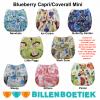 Billenboetiek wasbare luiers overbroekje Blueberry Capri Coverall Mini verzameling