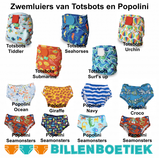 wasbare zwemluiers Billenboetiek van Popolini en Totsbots