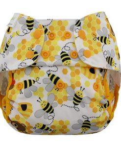 Blueberry Capri Cover Bears Bees overbroekje voor over de wasbare luier van de Billenboetiek