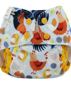 Blueberry Capri mini Cover Chickadee overbroekje voor over de wasbare luier van de Billenboetiek