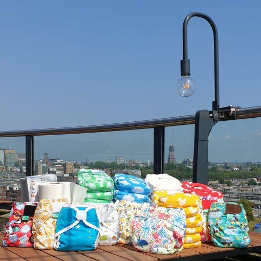 Wasbare luiers pakket maat 1 en 2 36x Totsbots bamboozle 8x overbroekje en inlegvellen