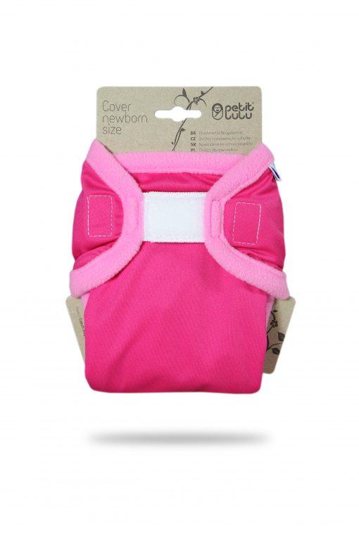 Billenboetiek wasbare luiers Petit Lulu Cover Newborn front Plain Pink
