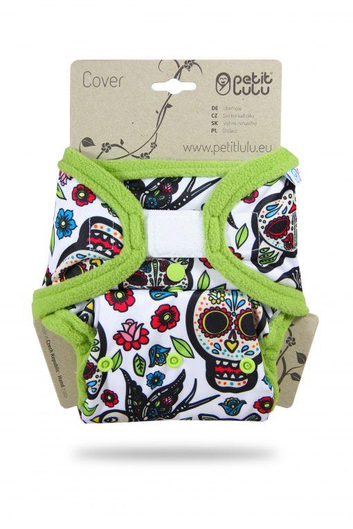 Billenboetiek wasbare luiers Petit Lulu Cover OS velcro front Mexican Skulls