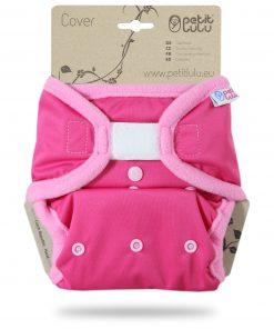 Billenboetiek wasbare luiers Petit Lulu Cover OS velcro front Plain Pink