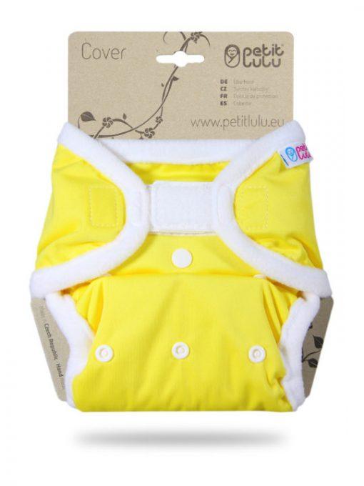 Billenboetiek wasbare luiers Petit Lulu Cover OS velcro front Yellow
