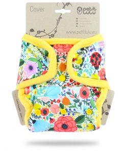 Billenboetiek wasbare luiers Petit Lulu Cover OneSize snaps front Blooming Garden