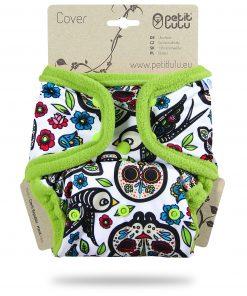Billenboetiek wasbare luiers Petit Lulu Cover OneSize snaps front Mexican Skulls