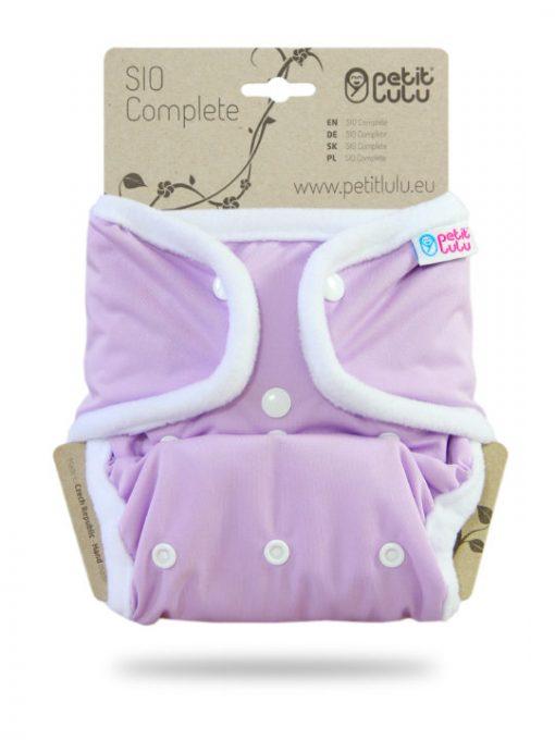 Billenboetiek wasbare luiers Petit Lulu Cover OneSize snaps front Purple