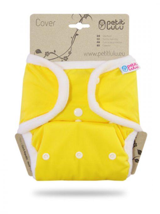 Billenboetiek wasbare luiers Petit Lulu Cover OneSize snaps front Yellow