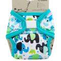 Billenboetiek wasbare luiers Petit Lulu Cover XL velcro front Elephant