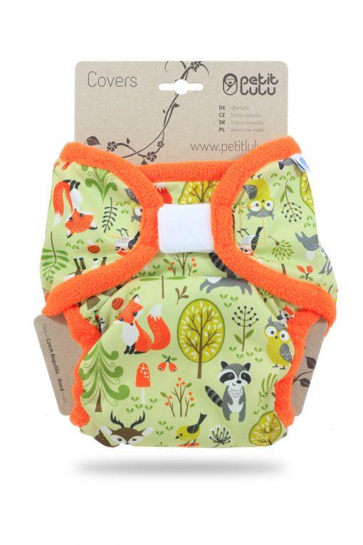 Billenboetiek wasbare luiers Petit Lulu Cover XL velcro Forest