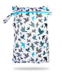 Petit Lulu wetbag voor wasbare luiers billenboetiek Utrecht Birds