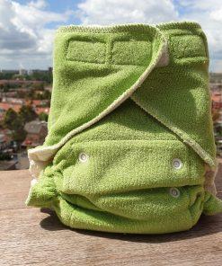 Ultrafit Popolini Wasbare luier Billenboetiek groen