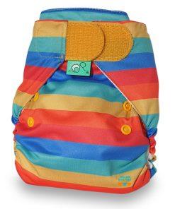 Totsbots peenutwrap wasbare luiers Billenboetiek Rainbow Stripe