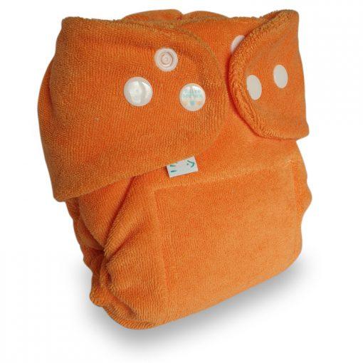 Popolini Newborn MiniSnap snapfit Tinfit wasbare luiers Billenboetiek Utrecht clothdiapers Oranje