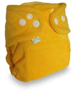 Popolini Newborn MiniSnap snapfit Tinfit wasbare luiers Billenboetiek Utrecht clothdiapers geel
