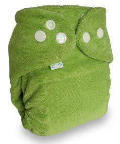 Popolini Newborn MiniSnap snapfit Tinfit wasbare luiers Billenboetiek Utrecht clothdiapers groen